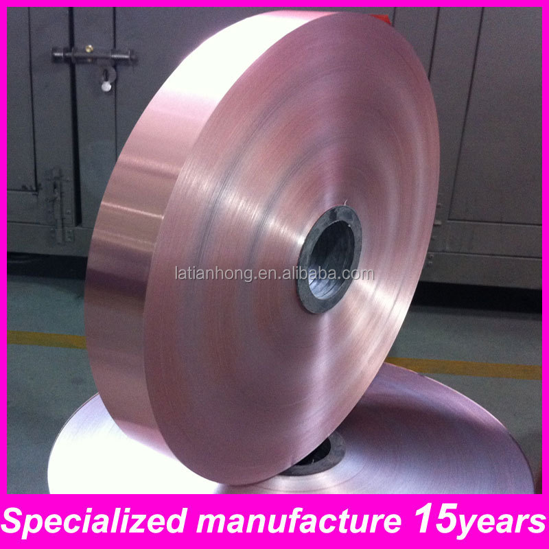 rolled copper foil laminated copper PET foil for underground cable TH1029