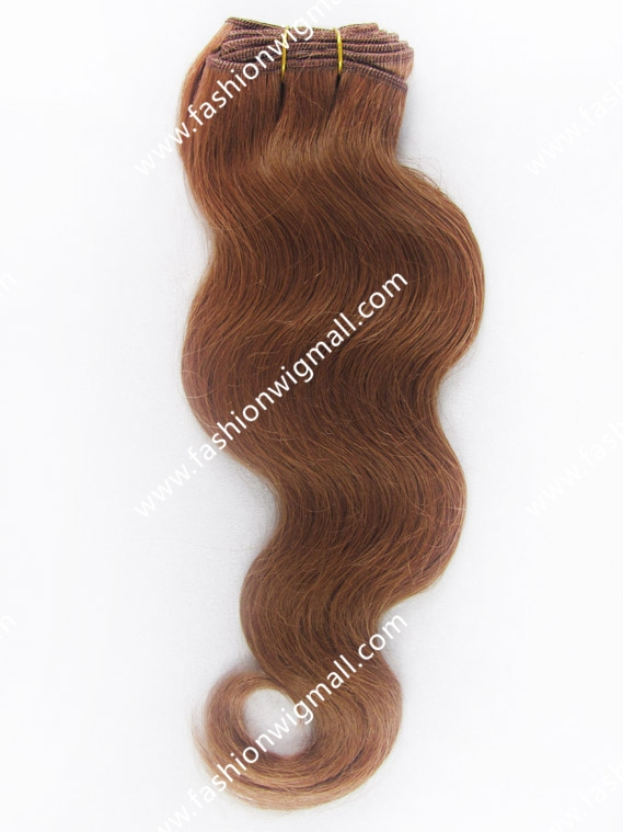 Free Shipping #30 Auburn Body Wave 100% Human Virgin Remy Hair Machine Weft Brazilian Weaving Hair Extensions 3pcs/lot