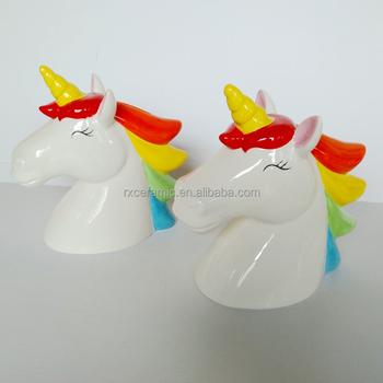 Unicorn Design Money Bank Ceramic Saving Box Jar
