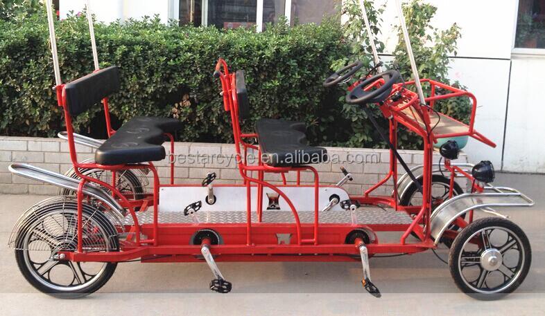4 rad zwei sitz erwachsenen rikscha fahrrad mit riesenrad. Black Bedroom Furniture Sets. Home Design Ideas