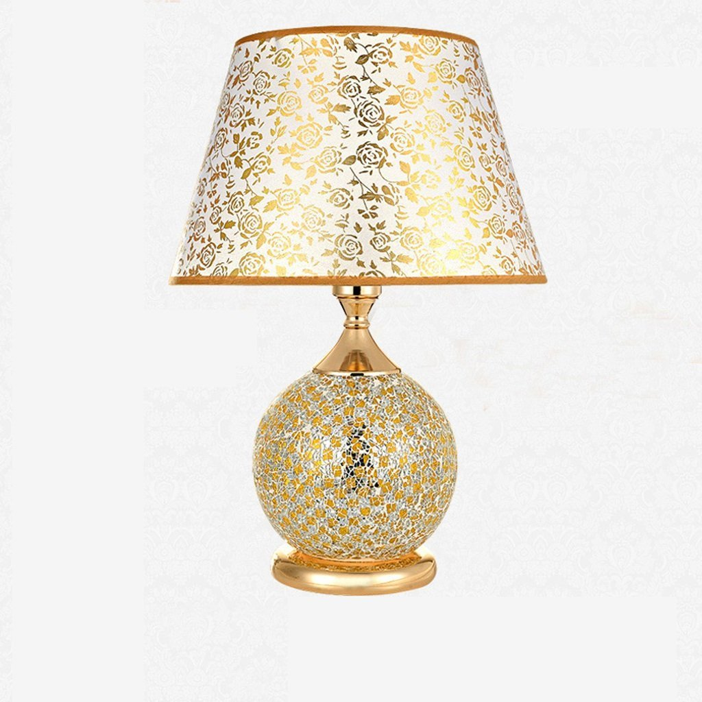 WENBO HOME- Bedside Lamp Bed   Ceramic Table Lamp Bedroom Decorated Wedding Table Lamp European - Style Lamps -Desktop lamp ( Size : M )