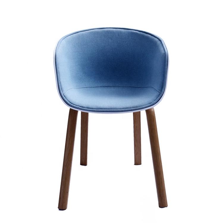 2019 Venta caliente de alta calidad nórdico clásico tela azul Silla de salón