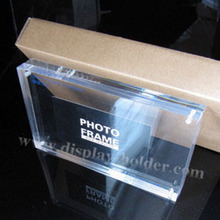 Clear Acrylic picture frame packed in gift box