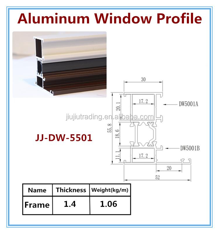 Aluminum Window Details : Extruded aluminum sliding window section profiles buy