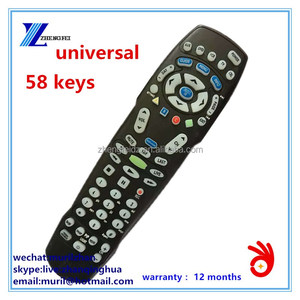 ZF High Quality Black 58 Keys Universal Remote Control for DVD/TV/VCR