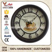 Customize Rustic Vintage Style Quartz Skip Clock Movement Metal