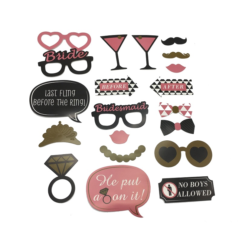 Bachelorette party photo booth props kit 20 pcs bridal shower funny naughty <strong>decorations</strong>