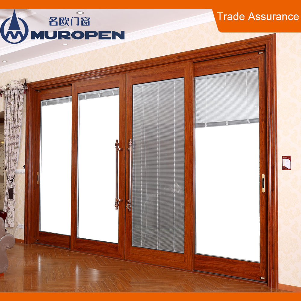Exterior Wood Aluminum Frame Commercial Hidden Sliding Doors