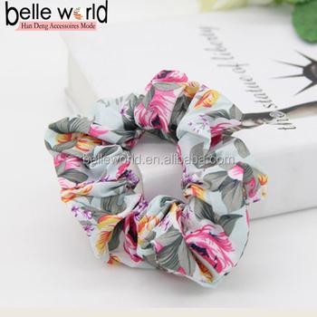Hair Scrunchies elastic Spring Hair Bands Ties Ponytail Holder wholesale 2d252c4ccdb
