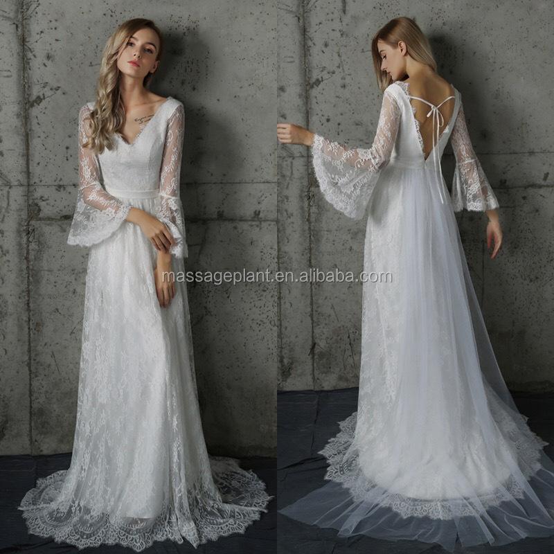 Long Sleeve Vintage Wedding Dress Bridal Gown Off White Simple Wedding Dress Bohemian Wedding Buy Long Sleeve Wedding Dress Vintage Wedding Dress Off White Wedding Dress Product On Alibaba Com