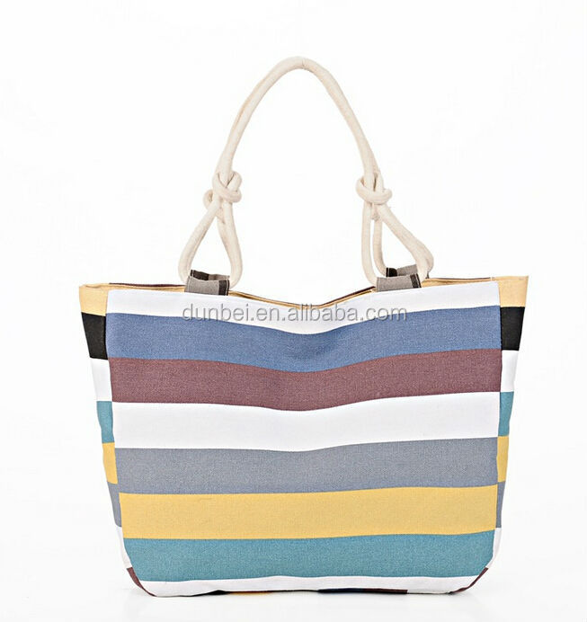 Trending hot women bags 2015 Newest Style China striping ladies handbag