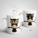 Ceramic The Owl Magic Coffee Mug Change Porcelain Milk Coffee Heat Sensitive Color Changing Ceramic Mug