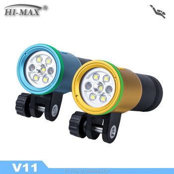 LED Flashlight 150m Underwater IP68 Powerful LED Diving Torch V11