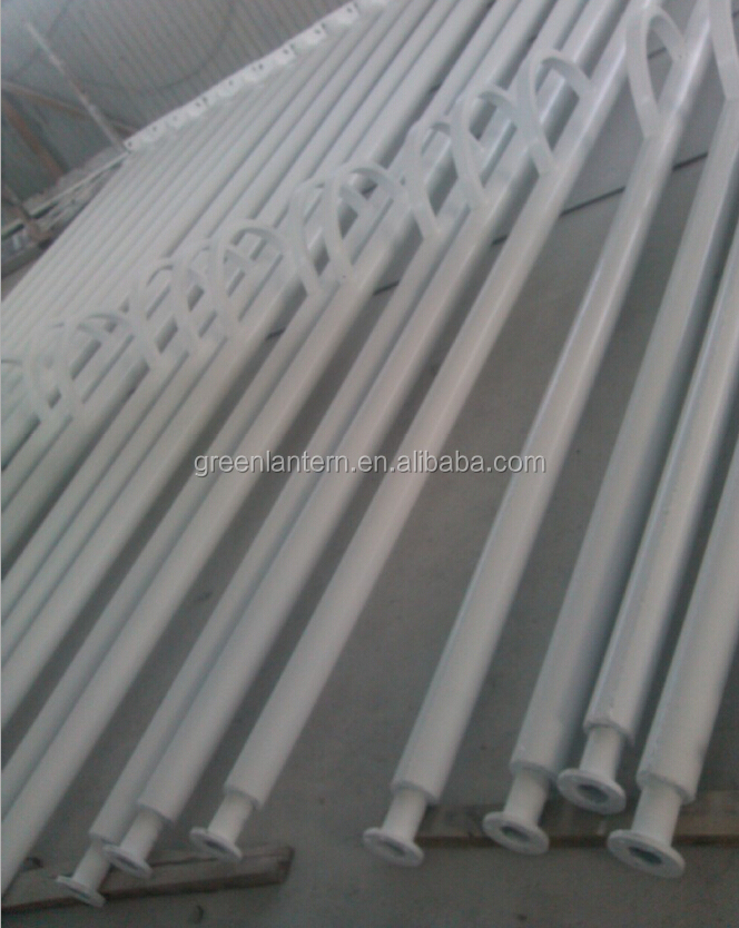 galvanized steel street lighting pole price 4m, 5m, 6m, 8m, 10m, 12m heigh