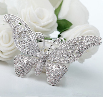 Fashion Wedding Invitation Jewelry Wholesale Butterfly Rhinestone