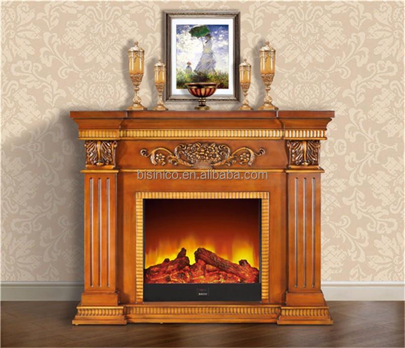 Chimenea el ctrica de madera tallada de estilo georgiano - Chimenea decorativa madera ...