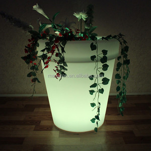Led Base Lights for Vases Rgb Led Lighting Planter Colorful Plastic Flower Pots