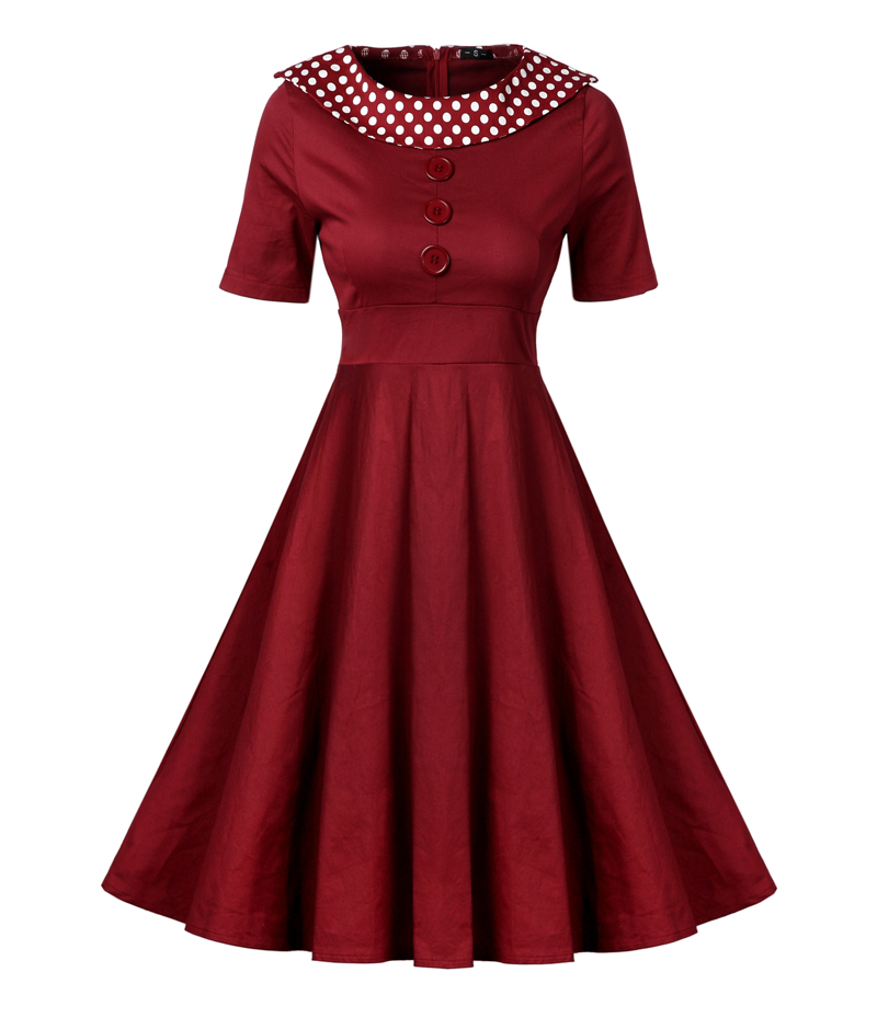 black wine red womens clothing 2017 Europe and America cotton wasp-waisted Formal dress length dresses long dresses for women