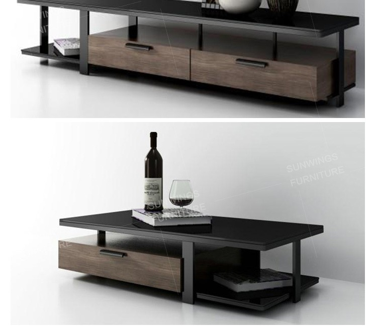 Italian Glass Top Modular Tv Cabinet And Home Usage TV Cabinet