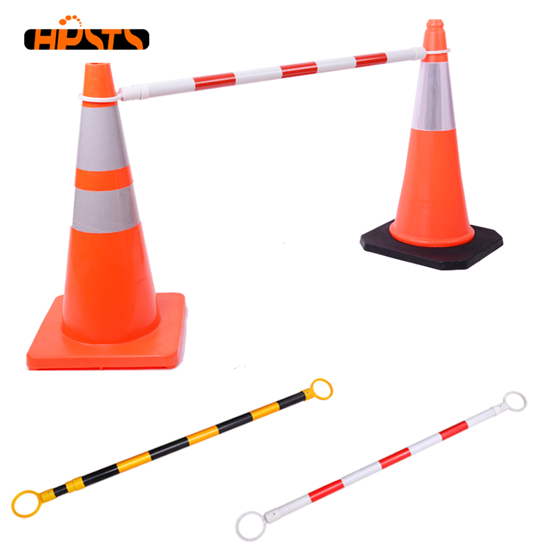 Europe standard ABS plastic single-side retractable traffic cone bar