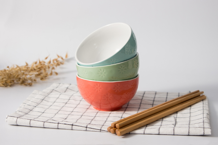 Chinese ramen bowl fancy porcelain rice soup small bowl colorful ceramic bowl