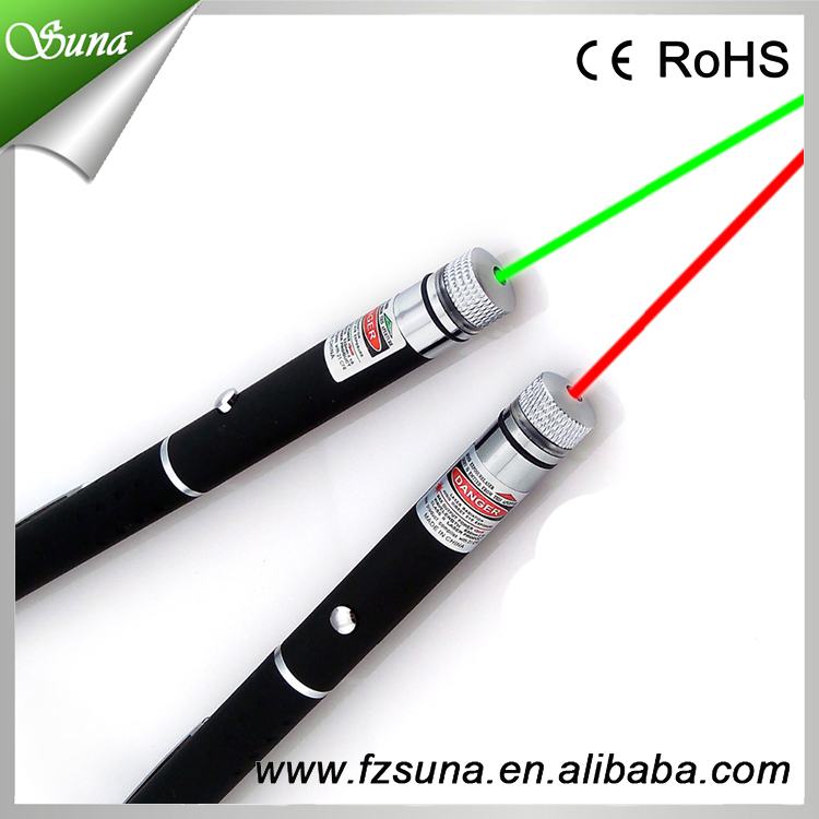 New Arrival 5 in 1 with 5pcs Caps Green Laser Pointer Lens