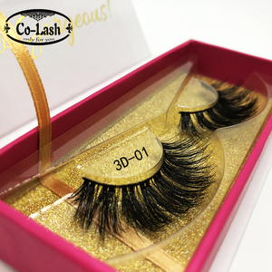Wholesale 100% Hand Made False 3D Mink Eyelashes with Custom Eyelash Packaging