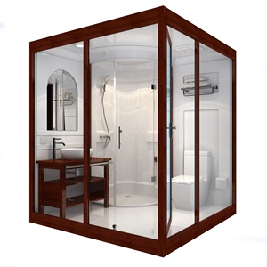 2019design whole Shower rooms prefab bathroom bathroom pods portable shower room with stinkpot