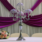 glass vase for easter/crystal candle holders wedding decoration/crystal chandeliers flower stand