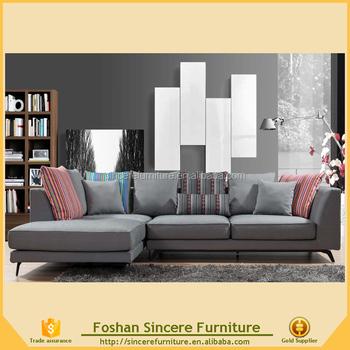 Modern Italy Design Fabric Sofa For Living Room, L Shape Sofa
