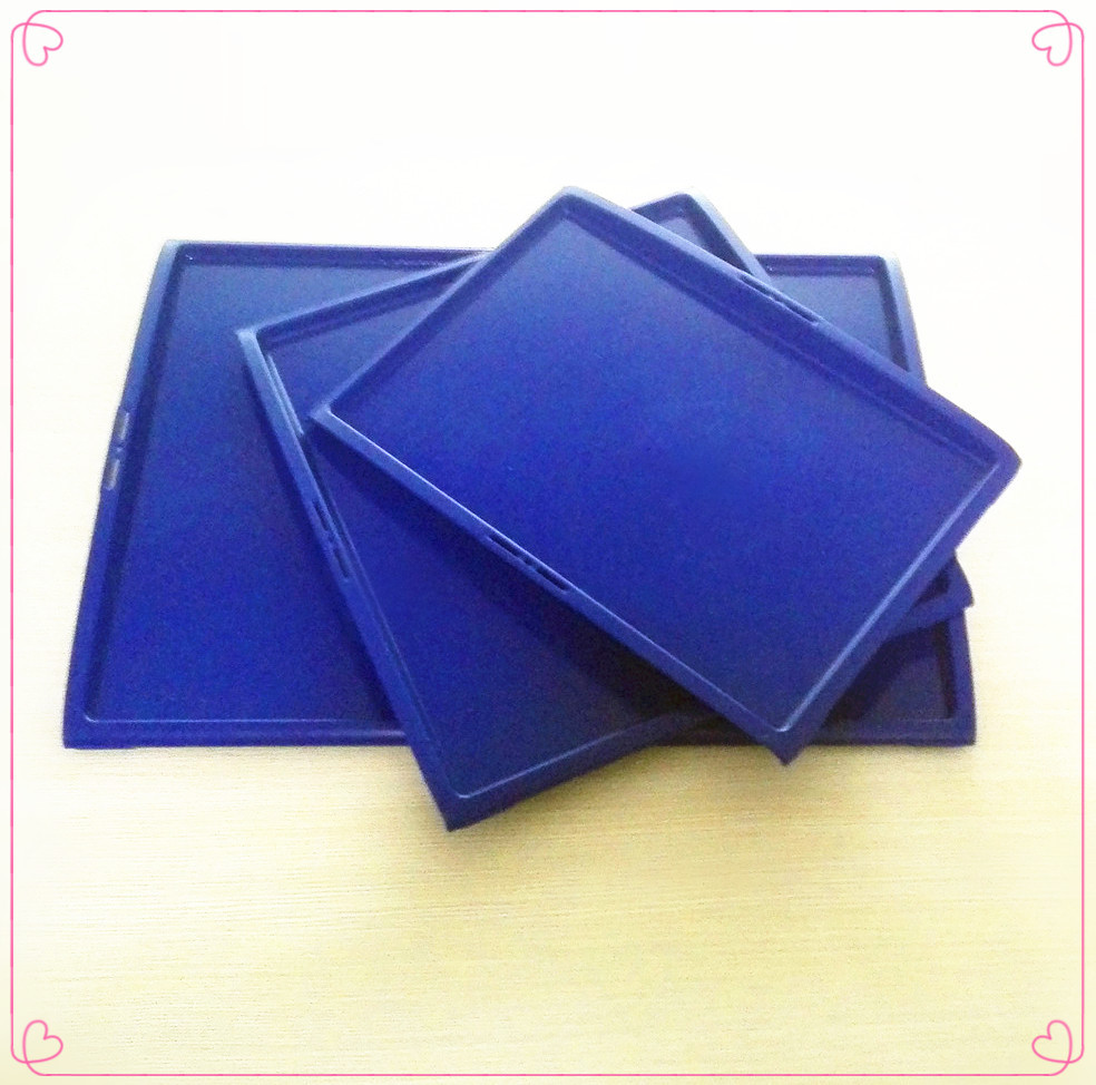 Food safety reusable plastic non-slip airline serving tray