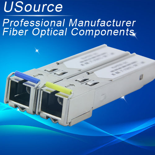 Price competitive Bidirectional 1.25G SFP mini GBIC Tx1550 Rx1310nm 20km singlemode optical transceiver
