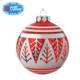 Hand paint glitter tree deacl glass Christmas ball ornament for tree decoration