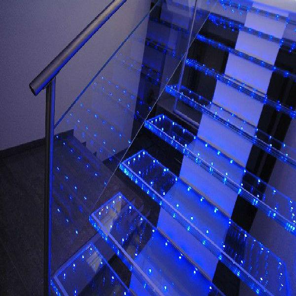 Vidrio de moda led para escalera cristal de construcci n - Leds para escaleras ...
