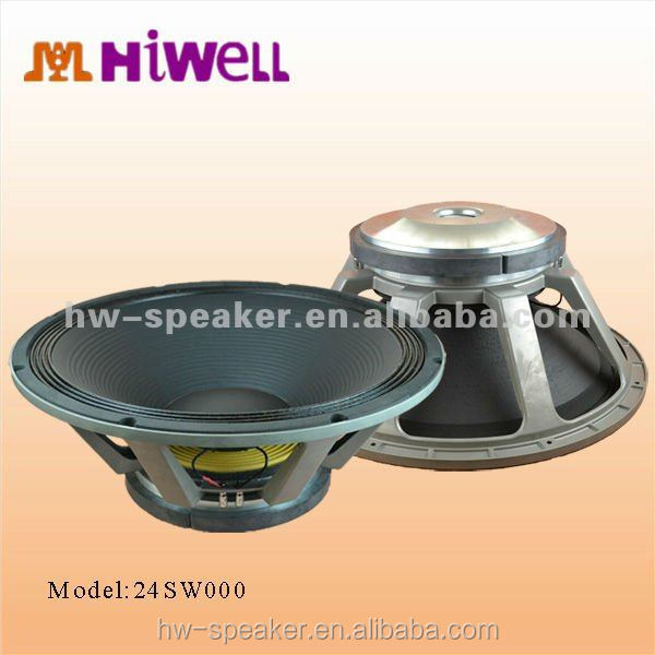 Dual coil, paper cone aluminum speakers big woofer size 24 inch