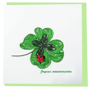 Grass Flower Paper Quilling Greeting Cards Buy Paper Flowers Card