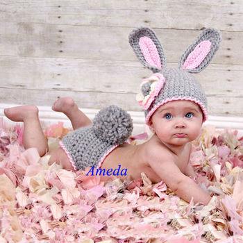 2 Teilig Grau Osterhase Hase Stricken Häkeln Baby Kostüm Foto Requisiten Buy Baby Hasenkostümmädchen Baby Pullover Häkelkleidungmädchen Baby