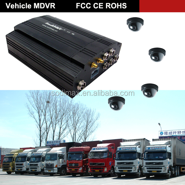 4CH CCTV dvr FULL D1 2TB HDD G-sensor GPS 3G 4G DVR H.264 mobile DVR with RJ45 port and RS485