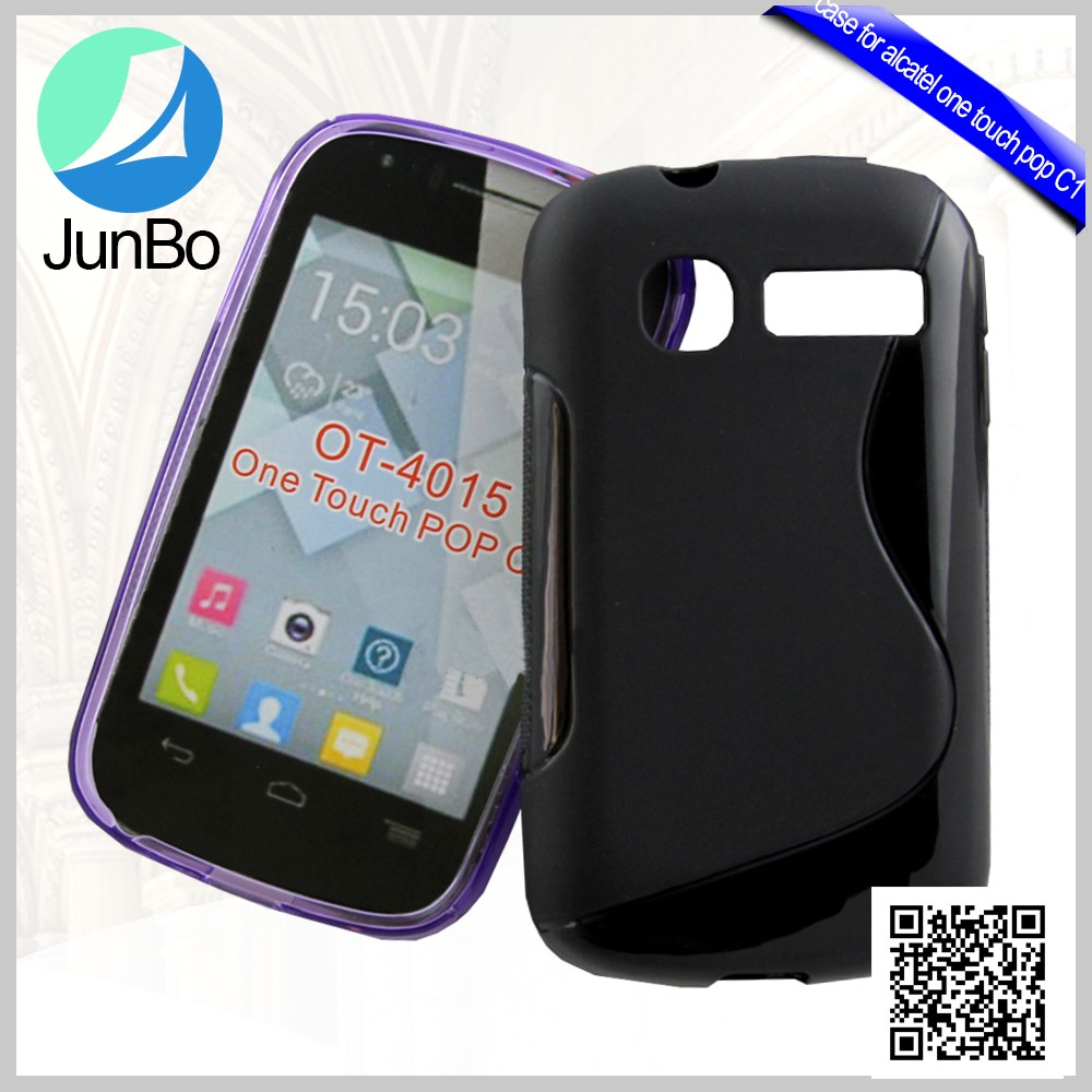 Hot selling S line TPU phone case for alcatel one touch pop c1 OT 4015 4015X