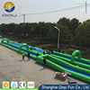 2017 Exciting giant outdoor game pvc tarpaulin crazy largest adult size inflatable slide city,long slip and slide for adults and