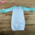 Newborn 0-24months Baby Girl Sleeping Gown Mint Icing Ruffle Sleeve Raglan Sleep Gown Baby Coming Home Outfit