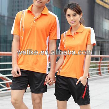 58685327f New design polo shirts for women orange badminton wear cheap polo jersey  wholesale