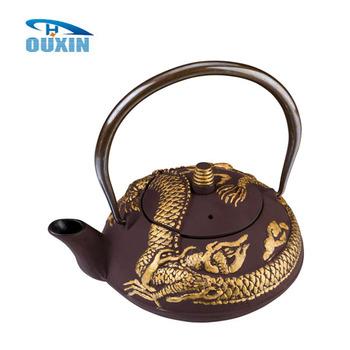 Hot Sale Imperial Dragon Cast Iron Teapot 0 9l Buy Teapot Antique