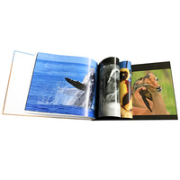 Customized size colorful art paper hardcover photo book printing