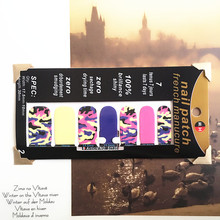Sexy Colorful Nail Arts Sticker 14 pcs set Waterproof Nail Decal Art Sticker Gel Polish Manicure
