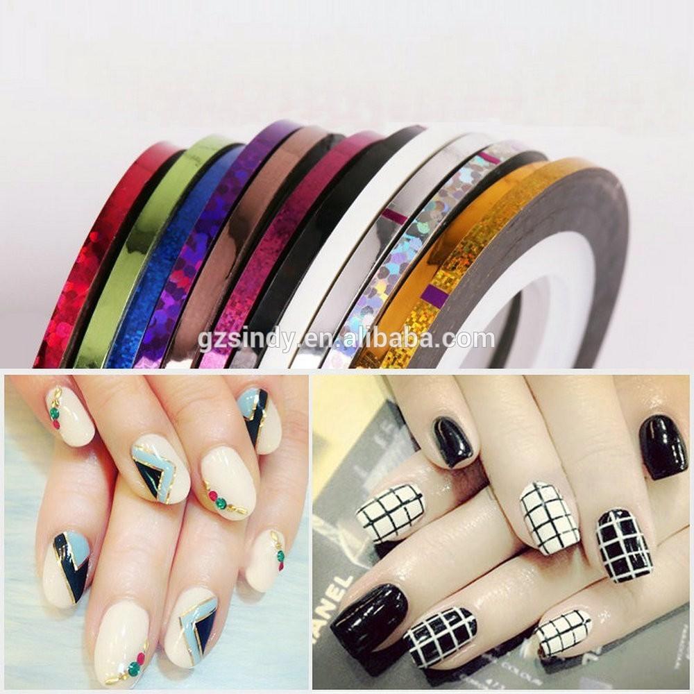 36pcs/lot 36 Color 3mm Nail Art Strips Nail Striping Tape For Nail ...
