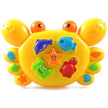Crab music toy early learning toy for baby