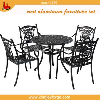 Kingjoy сад 1 стол с 4 стулья литого алюминия патио мебель Buy литой алюминиевый патио мебельоткрытый литого алюминия стол и стулиспользуется