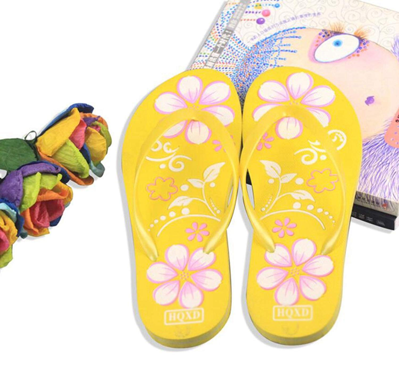 4d625311fa13b0 Get Quotations · Women Ladies Casual Candy Color Slides Beach Flip Flops  Flat Thong Mules Sandal Slipper Shoes