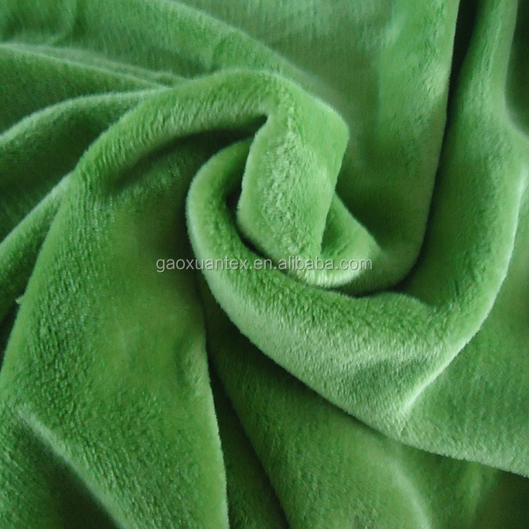 micro fiber polyester brushed with pile super soft & warm bathrobe fabric fleece flannel fabric
